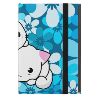 Two Kittens on Blue Background Cases For iPad Mini