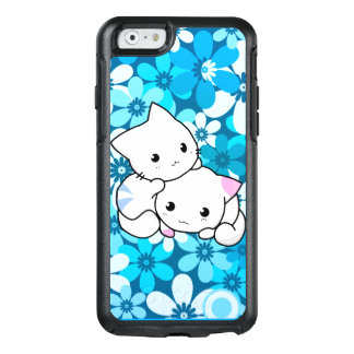 Two Kittens on Blue Background OtterBox iPhone 6/6s Case