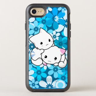 Two Kittens on Blue Background OtterBox Symmetry iPhone 8/7 Case