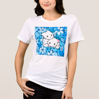 Two Kittens on Blue Background Tees