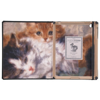 Two Kittens Snuggle by Henriëtte Ronner-Knip Cover For iPad