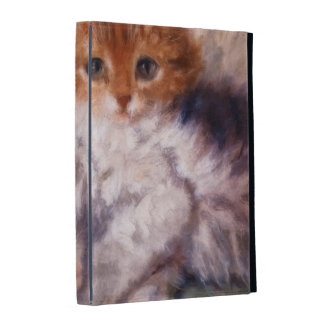 Two Kittens Snuggle by Henriëtte Ronner-Knip iPad Folio Cover