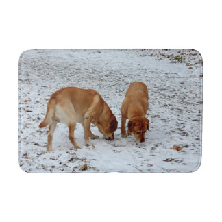 Two Labradors Bath Mat