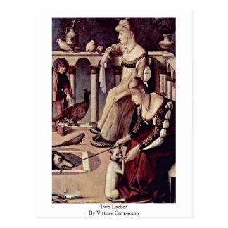 Two Ladies By Vittore Carpaccio Postcard
