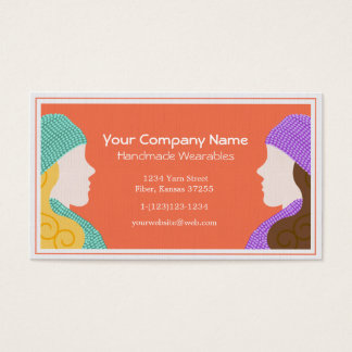 Two Ladies Handmade Wearables Business Card