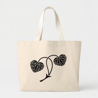 Two leaf mallows jumbo tote bag