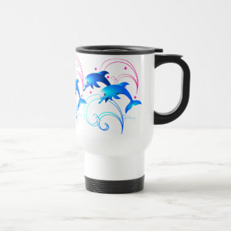Two Leaping Dolphins Coffee Mugs