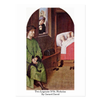 Two Legends Of St. Nicholas By Gerard David Postcard