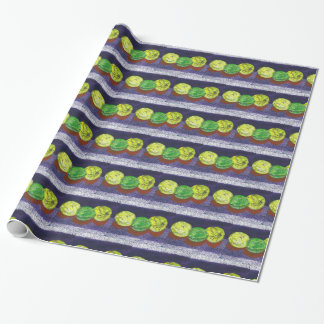 Two Lemons  And A Lime Designer Wrapping Paper
