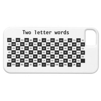 two letter words black and white Intl ver Case For The iPhone 5