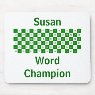 Two Letter Words  Green mousepad US vers