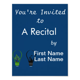 """two lightbulbs one eco one black city.png 4.25"""" x 5.5"""" invitation card"""