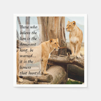 Two Lionesses Paper Napkins