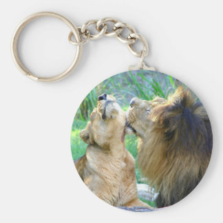 Two Lions Key Ring