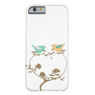 Two little birds on a heart shaped branch barely there iPhone 6 case