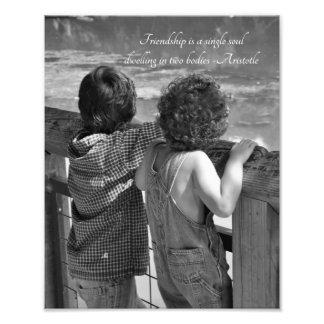 "Two Little Boys ""Friends"" Aristotle Quote Photo"