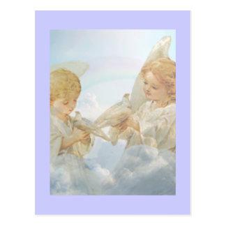 Two little cherubs. postcard