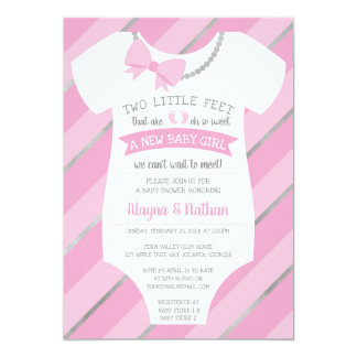 Two Little Feet Baby Shower Invitation