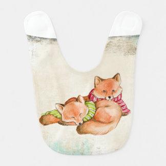 two little fox baby bib