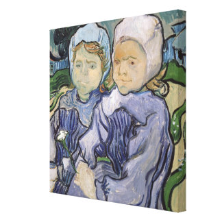 Two Little Girls, 1890 Stretched Canvas Print