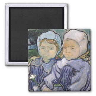 Two Little Girls, 1890 Fridge Magnets