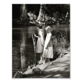Two Little Girl's Friendship Sister's Photo Print