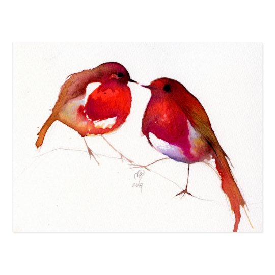 Two Little Ink Birds 2014 Postcard