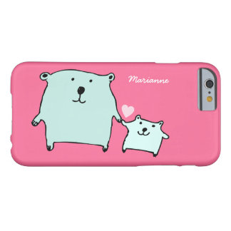 Two Little Love Bears Pink iPhone 6 Case