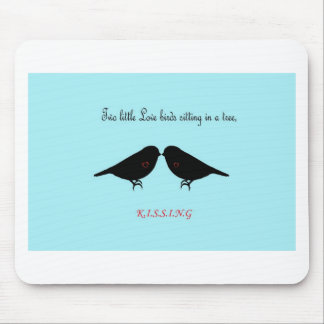 Two Little Love Birds Mouse Pad