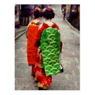 Two Little Maiko Postcard