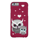 Two Little Owls and Hearts Barely There iPhone 6 Case