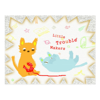 Two Little Trouble Makers Postcard