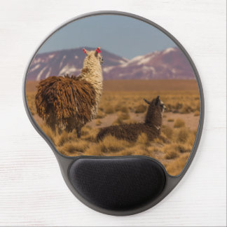 Two Llamas Gel Mouse Pad
