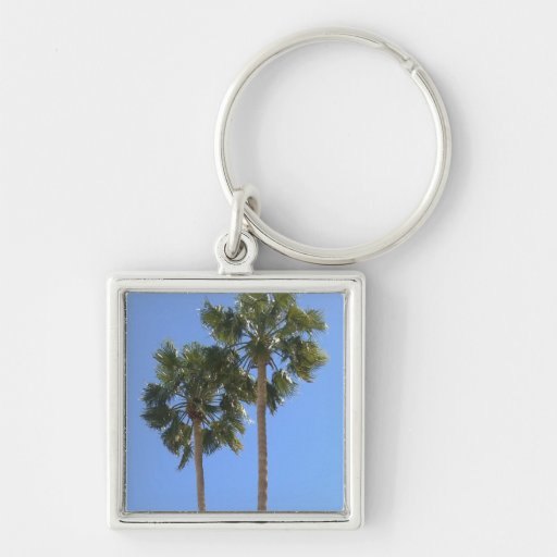 Two Lone Palm Trees Keychain