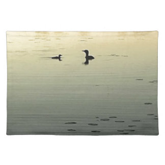Two loons placemat