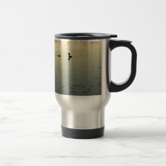 Two loons travel mug