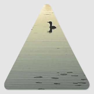 Two loons triangle sticker