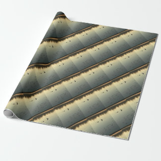Two loons wrapping paper