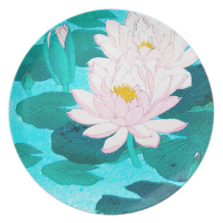 Two Lotus Flowers Plates