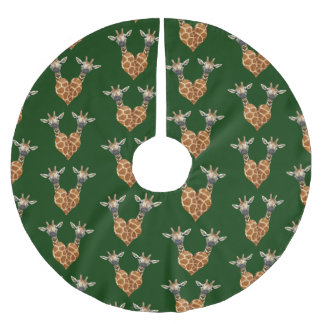 Two Lovely Giraffes Brushed Polyester Tree Skirt