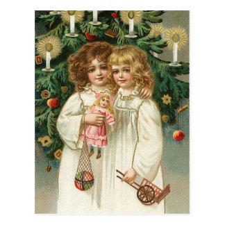 Two Lovely Girls Postcard