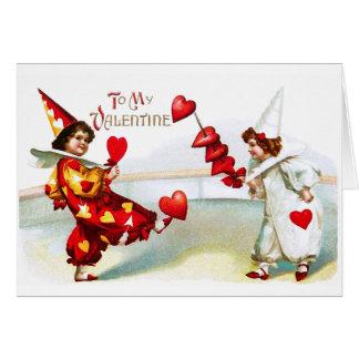 Two Lovely Harlequins Card