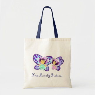 Two Lovely Sisters Christmas Tote Bag