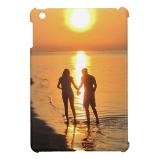 Two lovers at sunrise iPad mini covers