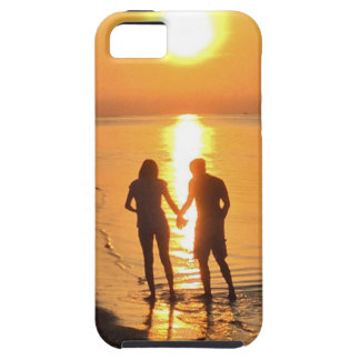 Two lovers at sunrise iPhone 5 cases