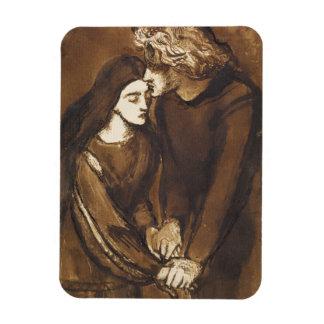 Two Lovers by Dante Gabriel Rossetti Magnet