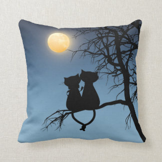 Two Lovers Cat Grade A Cotton Throw Pillow 16¤16