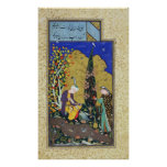 Two Lovers in a Flowering Orchard Posters