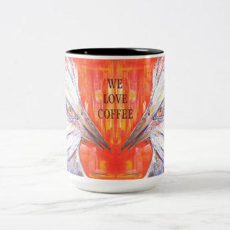Two Mad Birds Coffee Mug
