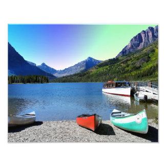 Two Medicine lake Glacier National Park Montana Photo Print